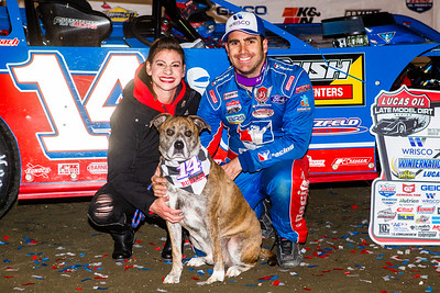 Josh Richards, wife Andrea and dog Burley