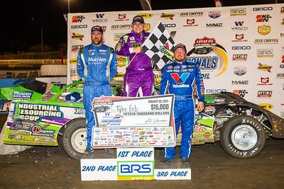 Jonathan Davenport (L), Tyler Erb (C), Brandon Sheppard (R)