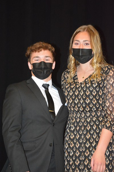 Student-Athletes of the Year: Pierce Mederios and Breanna Bembenek <br /> photo by Steddon Sikes