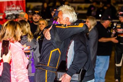 Josh Rice hugs Dave Latham