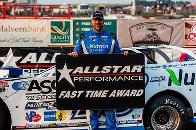 Allstar Performance Fast Time Award winner Jonathan Davenport