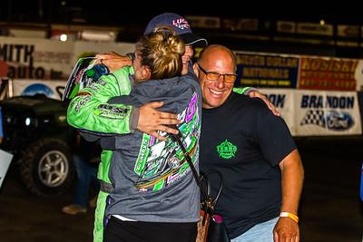 Tyler Erb hug his parents Sandra and Mark Erb