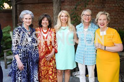 Alexandra de Borchgrave, Didi Cutler, Janet Pitt, Lynda Webster, Lisa Barry. Photo by Tony Powell. ISH Garden Gathering. June 29, 2021
