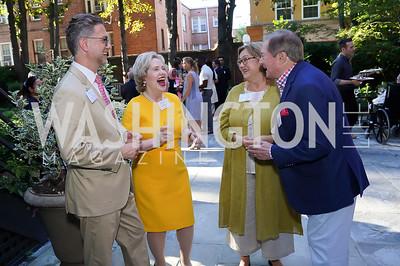 Daniel Bremer-Wirtig, Lisa Barry, Janet and Governor Jim Blanchard. Photo by Tony Powell. ISH Garden Gathering. June 29, 2021