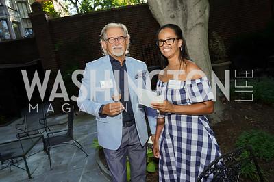 Robert Demers, Tonija Hope Navas. Photo by Tony Powell. ISH Garden Gathering. June 29, 2021