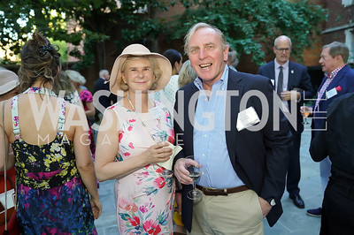 Michele Bond and Amb. Clif Bond. Photo by Tony Powell. ISH Garden Gathering. June 29, 2021