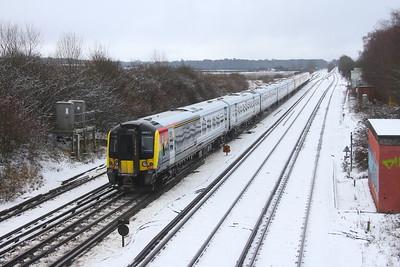 444019 Worting Junction 24/01/21 1W23 London Waterloo to Weymouth