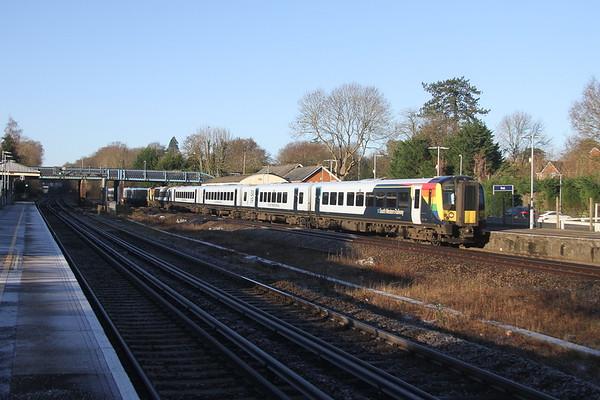 444019 Hook 22/01/21 1W50 Bournemouth to London Waterloo