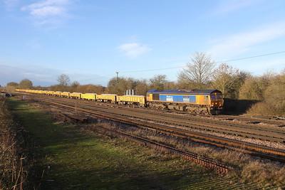 66731 Worting Junction 21/01/21 6Y48 Eastleigh to Hoo Junction