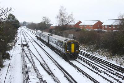159013 Worting Junction 24/01/21 1L25 Basingstoke to Exeter St Davids