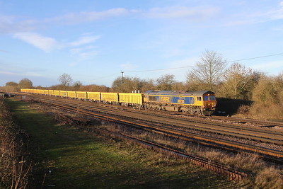 66735 Worting Junction 21/01/21 6M26 Eastleigh to Mountsorrel