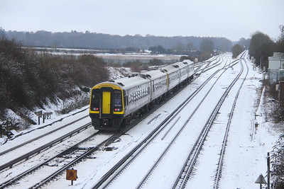 158887 Worting Junction 24/01/21 1L23 Reading to Salisbury