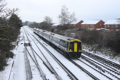 159015 Worting Junction 24/01/21 1L23 Reading to Salisbury