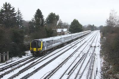 444011 Worting Junction 24/01/21 1W32 Weymouth to London Waterloo