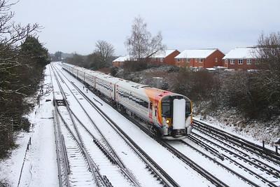 444043 Worting Junction 24/01/21 1W23 London Waterloo to Weymouth