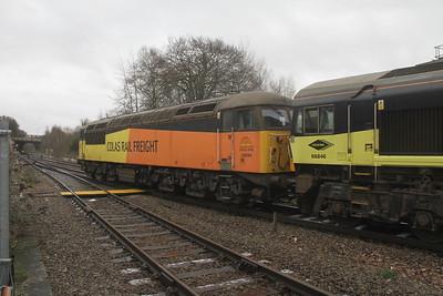56094 Basingstoke 26/01/21 6V27 Eastleigh to Hinksey with 66846