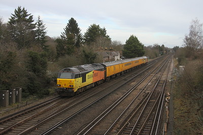 67023 Worting Junction 21/01/21 on the rear of 1Q54 Eastleigh to Tonbridge