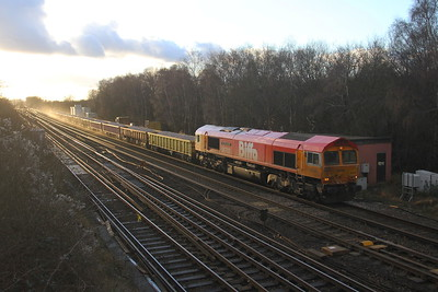 66783 Worting Junction 23/01/21 6G14 Eastleigh to Vauxhall