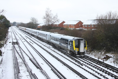 444038 Worting Junction 24/01/21 1B23 Woking to Poole