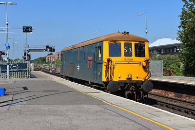 16 June 2021 :: 73201 is passing through Basingstoke while on 0Z66 from Eastleigh to Wembley
