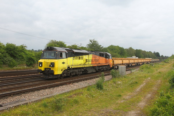 70806 Worting Junction 24/06/21 6O26 Hinksey to Eastleigh