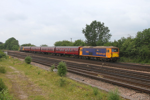 73136 Worting Junction 24/06/21 5Y73 Eastleigh to Alton for the Mid Hants Diesel Gala with 4TC and 73119