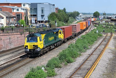 16 June 2021 :: 70015 is seen at Eastleigh with 4O15 from Lawley Street to Southampton