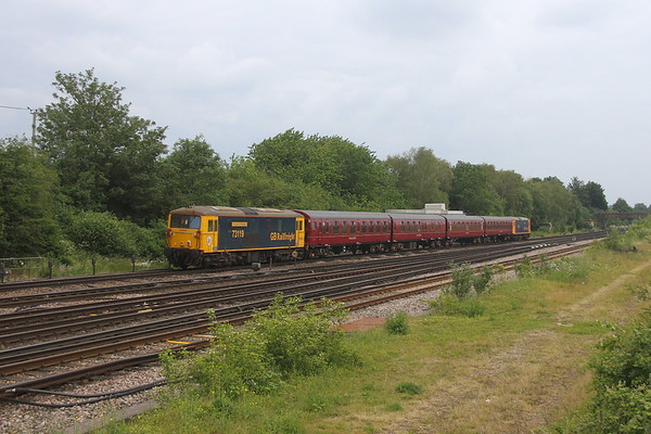 73119 Worting Junction 24/06/21 5Y73 Eastleigh to Alton for the Mid Hants Diesel Gala