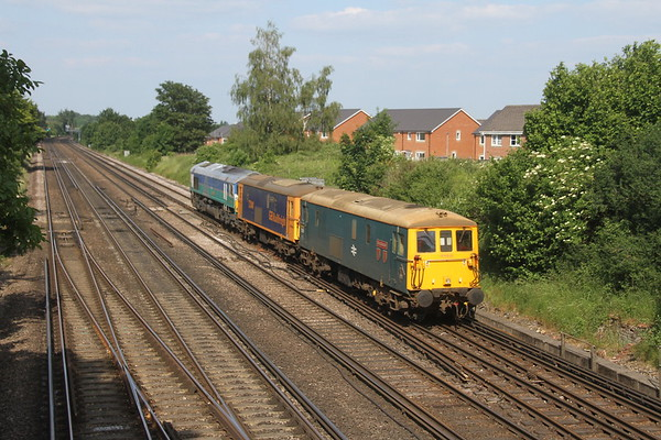 73201 Worting Junction 23/06/21 0O85 Wolverton to Eastleigh with 73141 and 66711