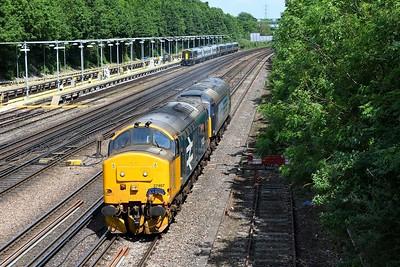 15 June 2021 :: 37407 + 57311 at Basingstoke working 0Z57 from Carlisle Kingmoor to Eastleigh