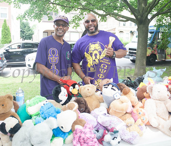 Omega Psi Phi Fraternity Inc. participated in the Juneteenth Celebration in Mansion Park followed the mural dedication of Tree Arrington at the Family Partnership Center in Poughkeepsie on Saturday, June 19, 2021. HUDSON VALLEY PRESS/ Chuck Stewart, Jr.