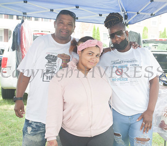 Bag Boy Hustle & Bag Girl Hustle participated in the Juneteenth Celebration in Mansion Park followed the mural dedication of Tree Arrington at the Family Partnership Center in Poughkeepsie on Saturday, June 19, 2021. HUDSON VALLEY PRESS/ Chuck Stewart, Jr.