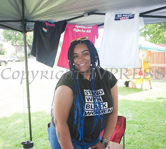 Planned Parenthood of Greater New York participated in the Juneteenth Celebration in Mansion Park followed the mural dedication of Tree Arrington at the Family Partnership Center in Poughkeepsie on Saturday, June 19, 2021. HUDSON VALLEY PRESS/ Chuck Stewart, Jr.