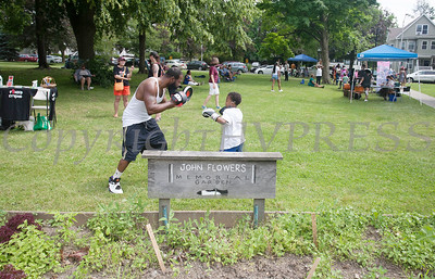 Fun things for children were everywhere at the Juneteenth Celebration in Mansion Park followed the mural dedication of Tree Arrington at the Family Partnership Center in Poughkeepsie on Saturday, June 19, 2021. HUDSON VALLEY PRESS/ Chuck Stewart, Jr.
