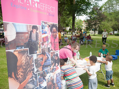 The Art Effect participated in the Juneteenth Celebration in Mansion Park followed the mural dedication of Tree Arrington at the Family Partnership Center in Poughkeepsie on Saturday, June 19, 2021. HUDSON VALLEY PRESS/ Chuck Stewart, Jr.