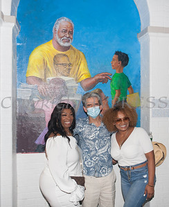 A mural of Tree Arrington was unveiled during the Juneteenth Celebration at the Family Partnership Center in Poughkeepsie on Saturday, June 19, 2021. HUDSON VALLEY PRESS/ Chuck Stewart, Jr.