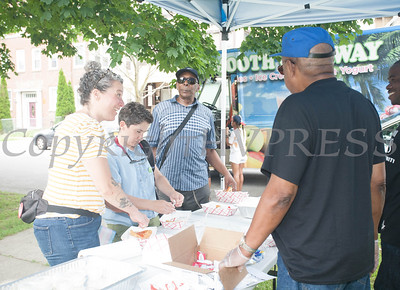 A Juneteenth Celebration in Mansion Park followed the mural dedication of Tree Arrington at the Family Partnership Center in Poughkeepsie on Saturday, June 19, 2021. HUDSON VALLEY PRESS/ Chuck Stewart, Jr.