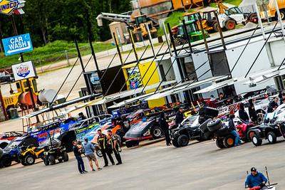 Lucas Oil Speedway pit area