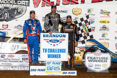 Josh Richards (L), Jonathan Davenport (C) and Kyle Bronson (R)