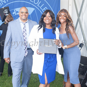 Bernice Jackson receives a Post Master's Certificate in Nursing during Mount Saint Mary College's 58th Commencement Exercises in Newburgh, NY on Friday, May 21, 2021. Hudson Valley Press/CHUCK STEWART, JR.