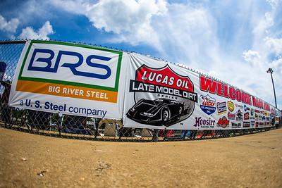 Lucas Oil Late Model Dirt Series Welcome Race Fans banner