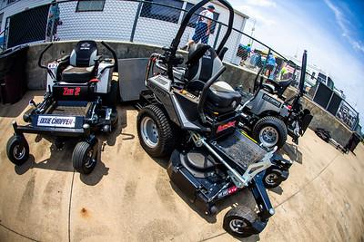 Dixie Chopper mowers on display