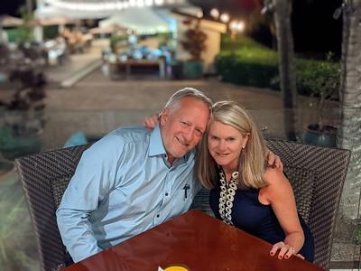 Happy at Merriman's Restaurant.
