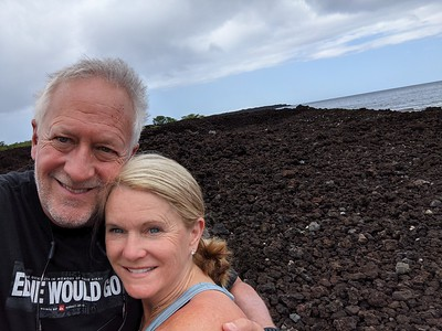 One day we trekked south to visit the lava flows. Rough country!