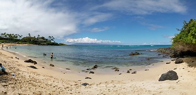 View from our sunning spot on Kapalua Beach.