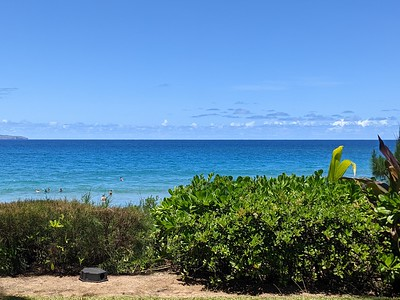 Overlooking D.T. Fleming Beach, the hotel's beach.