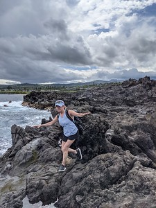First day hike on the coastline.