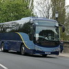 Oxford Bus Company debranded Airline liveried Volvo Plaxton Panther CF14OXF 23 on the 11X BMW Plant service, 01.05.2021.