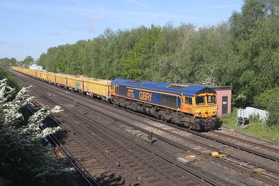 66733 Worting Junction 27/05/21 6M26 Eastleigh to Mountsorrel