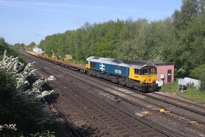 66789 Worting Junction 27/05/21 6Y48 Eastleigh to Hoo Junction